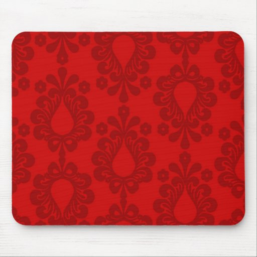 two tone red damask mousepad