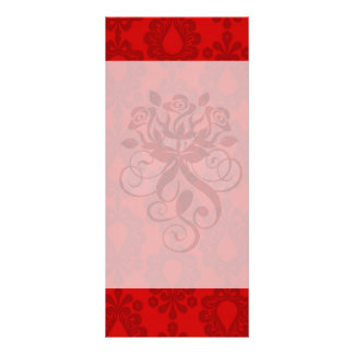 two tone red damask rack card design