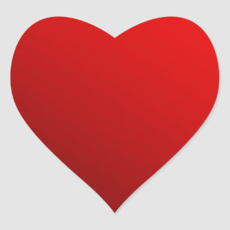 Two Tone Red Heart Sticker