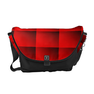 Two Tone Red Messenger Bag