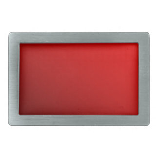 Two Tone Red Rectangular Belt Buckle