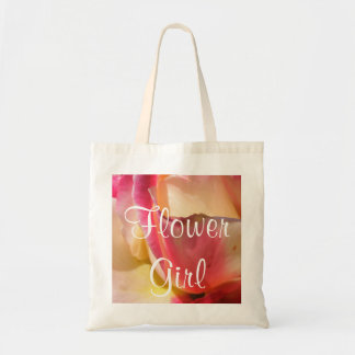 Two Tone Rose Wedding Tote Bags