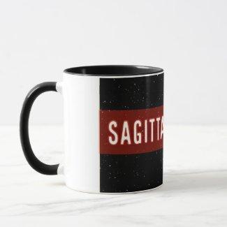 Two tone Sagittarian zodiac sign mug