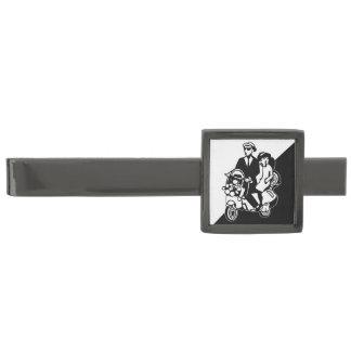 Two Tone Scooter Gunmetal Finish Tie Bar