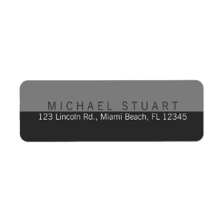 Two Tone   Simple Modern Minimalist Custom Color Label