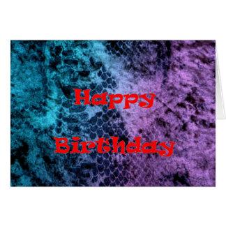 Two Tone Snakeskin Happy Birthday Card