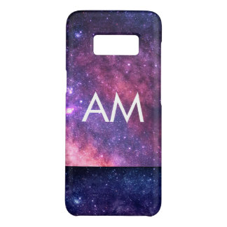 Two Tone Space Initials Monogram Case-Mate Samsung Galaxy S8 Case