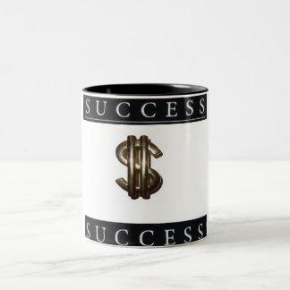 Two-Tone Success and Money Symbol Mug