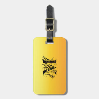 Two Tone Sunshine Yellow Tags For Luggage
