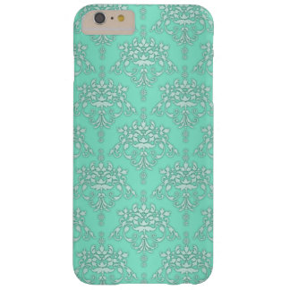 Two Tone Teal Girly Fancy Damask iPhone 6 case