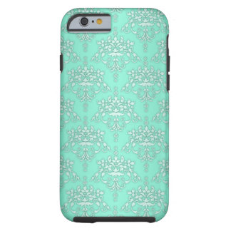 Two Tone Teal Girly Fancy Damask iPhone 6 case iPhone 6 Case