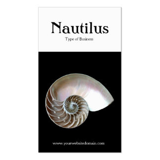 Two Tone Vertical (Nautilus Shell) Business Card Template