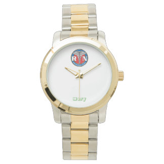 Two-Tone Watch, Gold and Silver Tone Watch