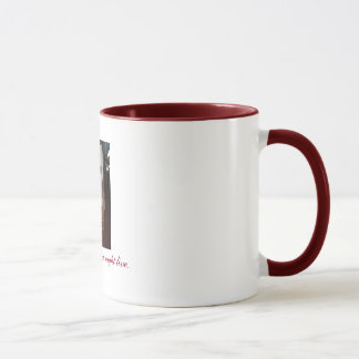 Two-Tone White Cross Mug