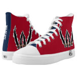 Two-Tone Wildcats or Bobcats Basketball Player High-Top Sneakers