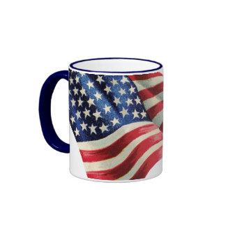 Two-Toned American Flag Coffee Mug