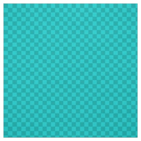Two toned aqua gingham checkerboard fabric
