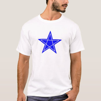 Two toned blue and white pentagram gear T-Shirt