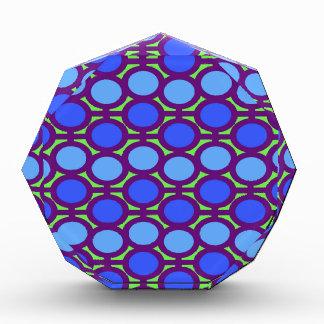 Two Toned Blue Bubble Eyelets Award