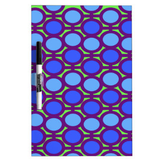 Two Toned Blue Bubble Eyelets Dry Erase Board