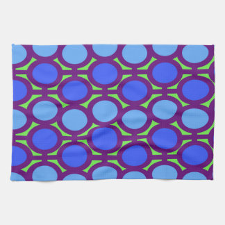 Two Toned Blue Bubble Eyelets Hand Towel