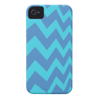 Two Toned Blue Chevron iPhone 4 Case-Mate Case