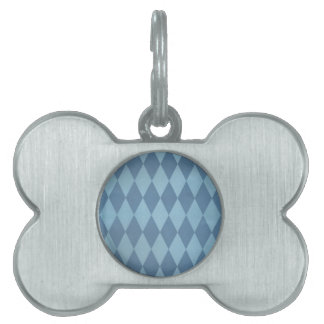 Two Toned Blue Harlequins Pet Tags