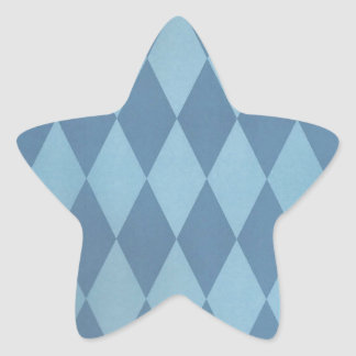 Two Toned Blue Harlequins Star Sticker