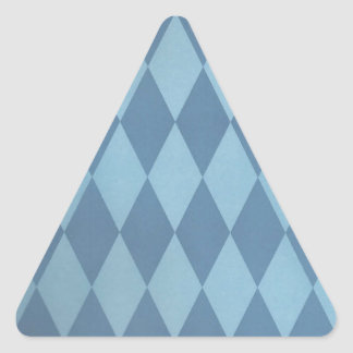 Two Toned Blue Harlequins Triangle Sticker