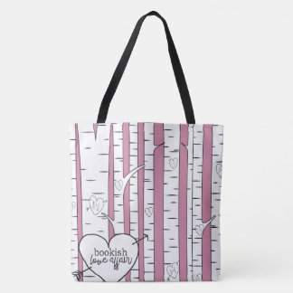 Two Toned Bookish Love Affair Tote Bag