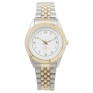 Two Toned Bracelet Watch/Gold Wrist Watch