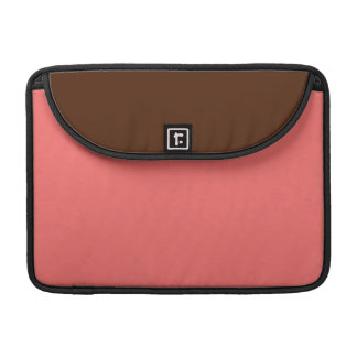 Two-Toned Brown & Salmon Pink MacBook Pro Sleeve