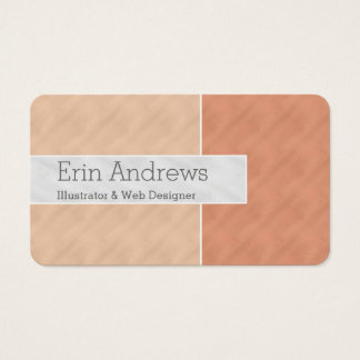 Two-toned Coral ColorBlock Business Card