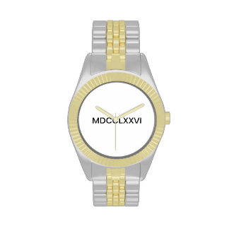 TWO TONED GOLD AND SILVER WATCH BY EAGLE REPUBLIC