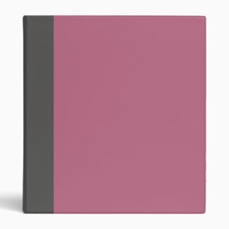 Two-Toned Gray & Pink Binder