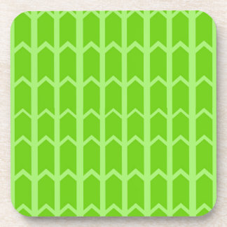 Two Toned Green Fence Panel Drink Coaster