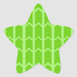 Two Toned Green Fence Panel Star Sticker