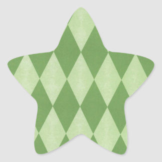 Two Toned Green Harlequins Star Sticker