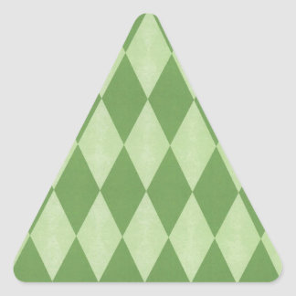 Two Toned Green Harlequins Triangle Sticker