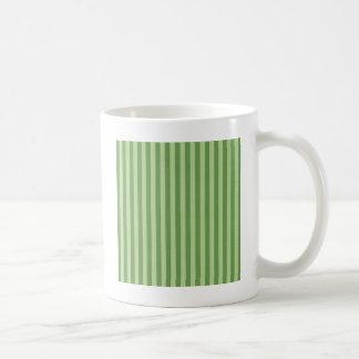 Two Toned Green Stripe Coffee Mug