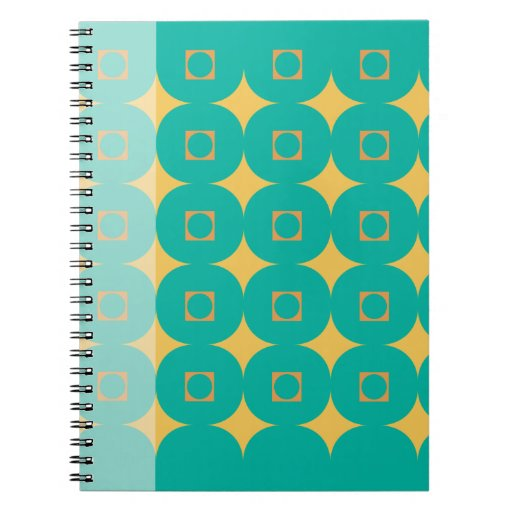 Two Toned Green with Gold Stars Spiral Notebook