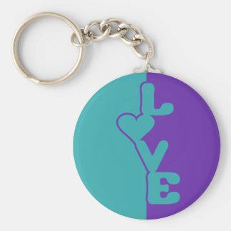 Two-Toned Love custom key chain