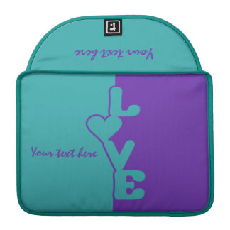 Two-Toned Love custom Macbook sleeve Sleeve For MacBooks