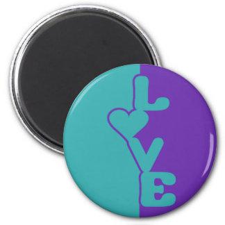 Two-Toned Love custom magnet