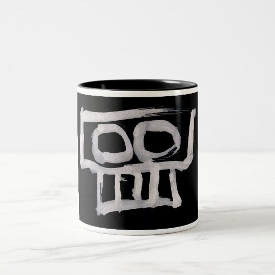 two-toned mug skull design 001