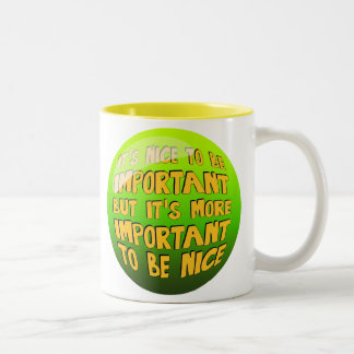Two-toned mug with illustration