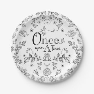 Two Toned Once Upon A Time Paper Plates