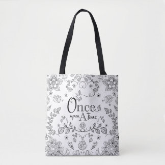 Two Toned Once Upon A Time Tote Bag