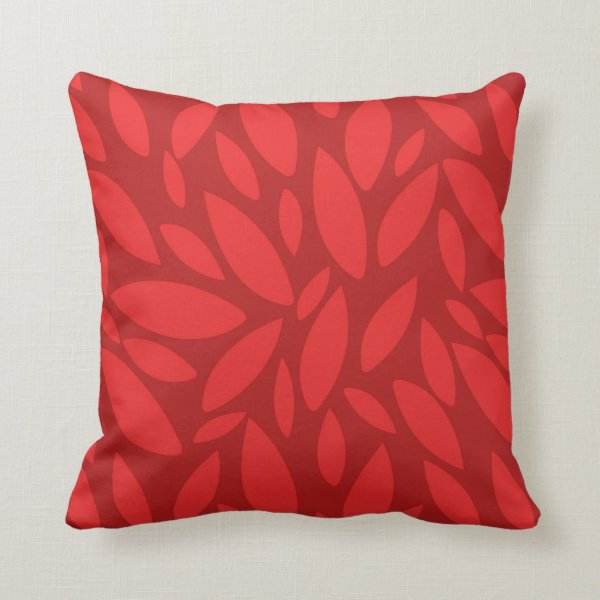 Two toned orange autumn fall leaves throw pillow