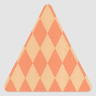Two Toned Orange Harlequins Triangle Sticker